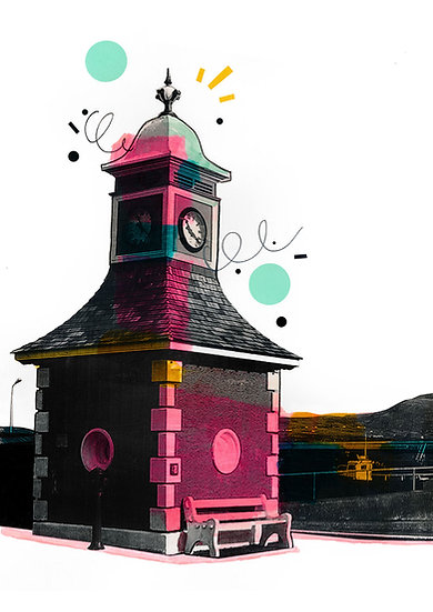 Town Clock Valentia Island - Limited Edition Print from €60