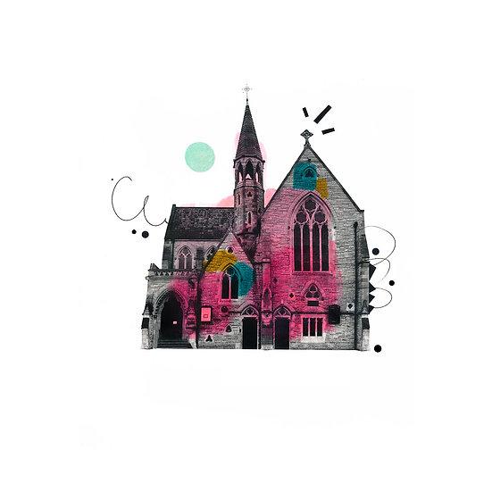 Dublin Unitarian Church - Stephens Green - Limited Edition Print of 30