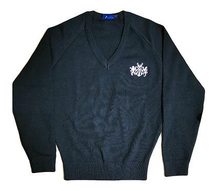 School Black V Neck Jumper (Pre Order Online)