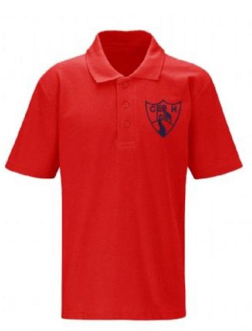 Churchill School Poloshirt (red)