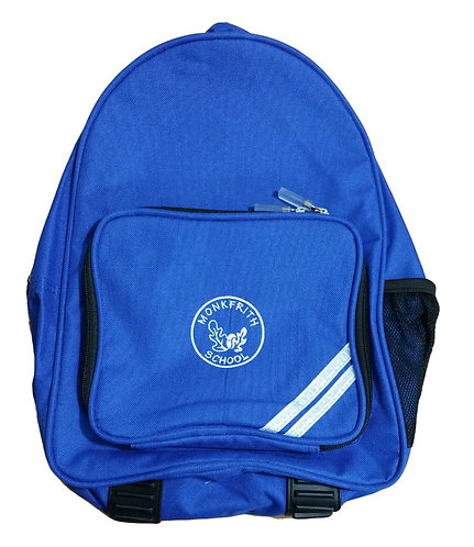 Monkfrith School Backpack with Logo