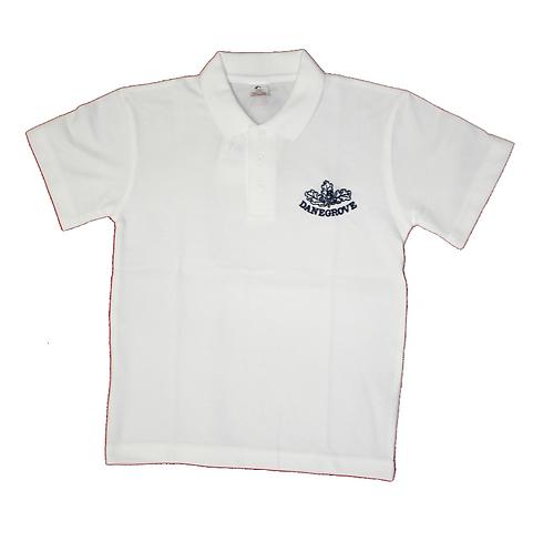 Danegrove School Poloshirt (white)