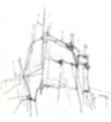 dessin de Jean Amado sculpteur
