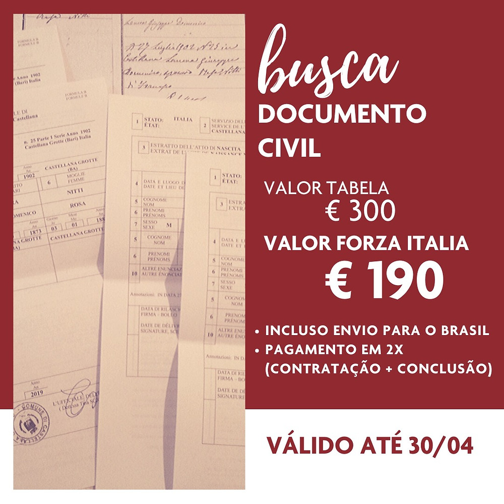 Busca documento civil