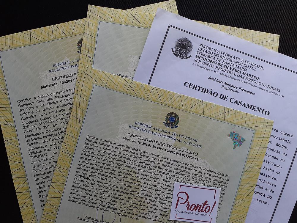 Documentos emitidos no Brasil