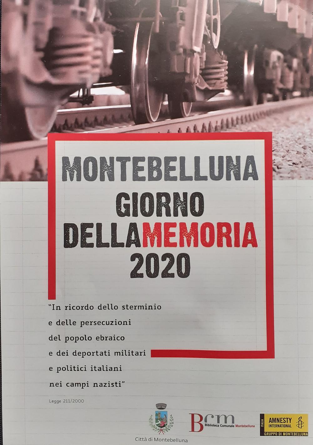 Cartaz produzido pelo Comune di Montebelluna, il giorno della memoria