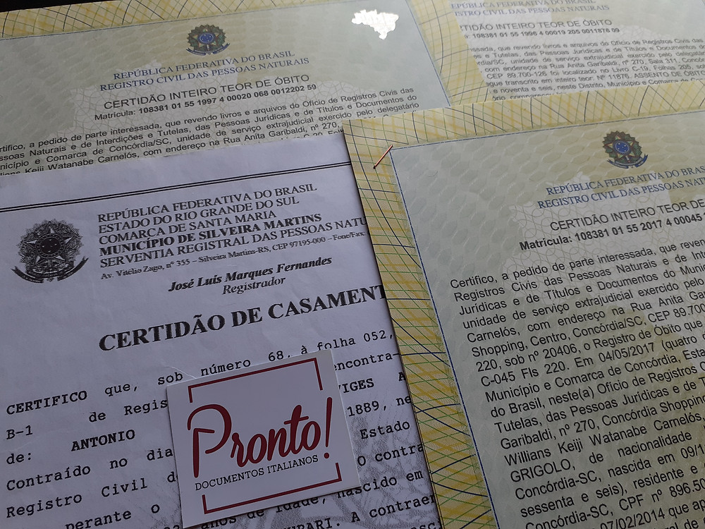Documentos brasileiros