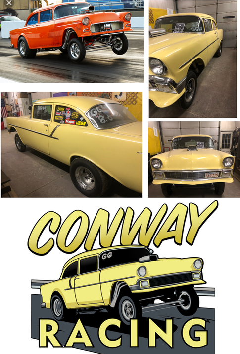 My new customer brought this awesome job to me.  He asked for a shirt design featuring the the yellow Gasser.   He wanted the image to have all the detail of the yellow car, but in action like the orange car.    Here's the result, cant wait to print these!