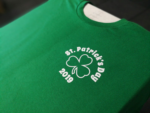 These were made for my friends over at the Uptowne Pub.  One color front desig, two color back print.