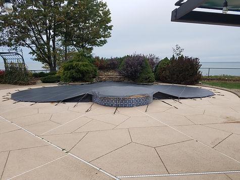 Loop-Loc mesh pool cover