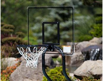 basketball hoop and backboard for pool