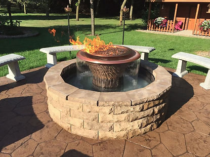 High Quality Fire Pit Water Fountain