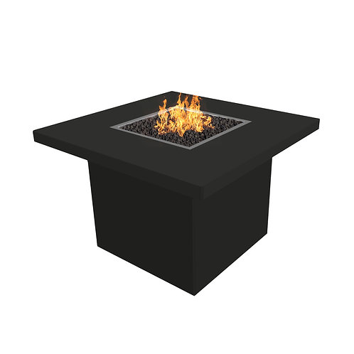 square black fire table