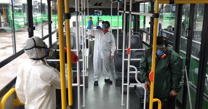 Desinfecta el Transporte Público