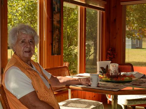 Mom on her 83rd Birthday
