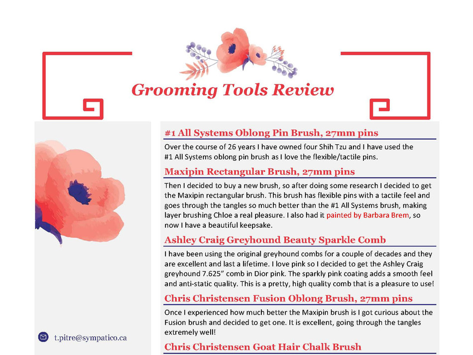 Grooming Tools Review