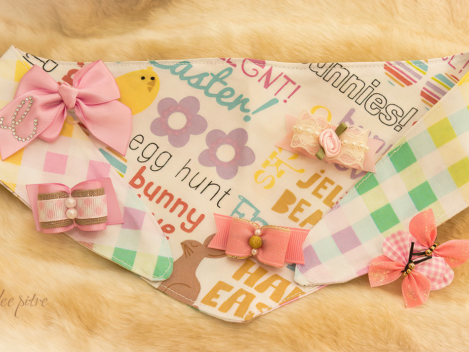 Easter bandana and bows