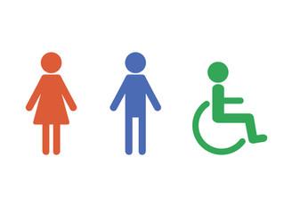 トランスジェンダーのための「性別問わない」トイレマーク