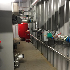 Industrial 800kw Biomass Boiler installed by VIS Electrical for a chicken farm