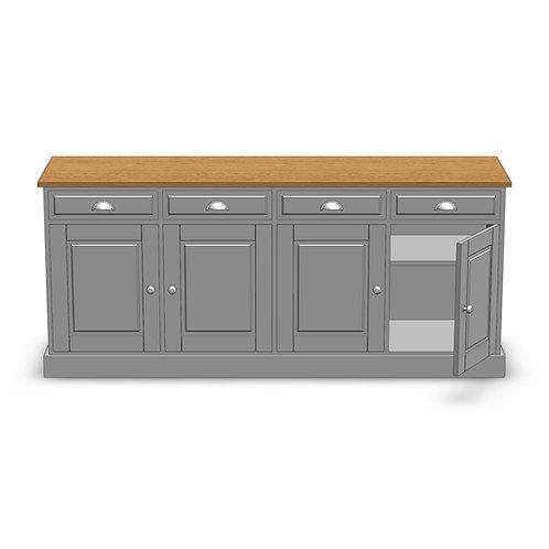 Fernwood Oak 4 Door Deluxe Sideboard