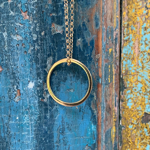 Circle of Life (Small) on Thick Chain Necklace - Gold