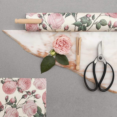 Rose drawer lining paper set of 6