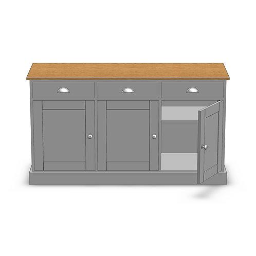 Dovedale Oak 3 Door Deluxe Sideboard