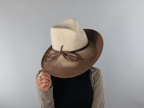 Italian Grey Ombre 100% Wool Hat