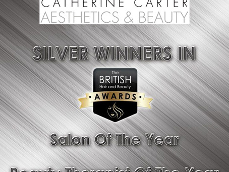 Silver Winners in the British Hair and Beauty Awards