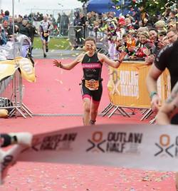 Outlaw half triathlon winner