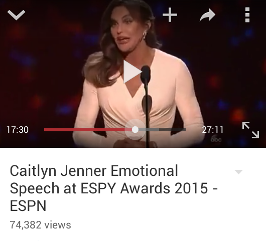 Caitlyn Jenner Speech