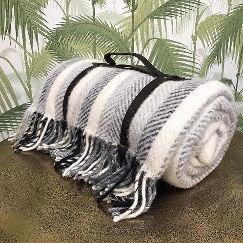 Polo Picnic Rug Monochrome Stripe/Grey