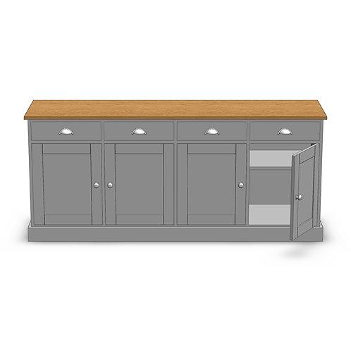 Dovedale Oak 4 Door Deluxe Sideboard