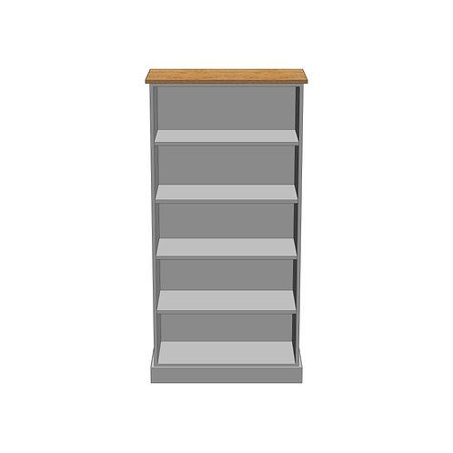 Large Bookcase Oak Wide