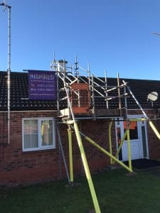 small domestic scaffolding nottingham inspired ltd