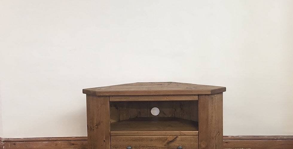 Plank 1 Drawer Corner TV Unit