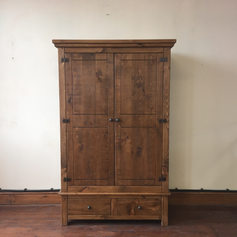 Plank Double Wardrobe with Drawers