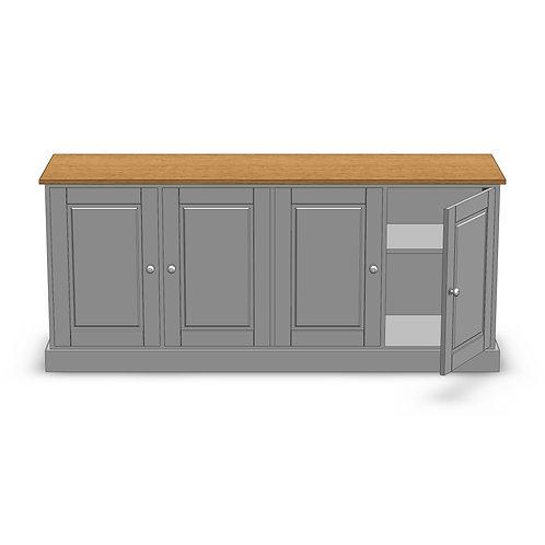 Fernwood Oak 4 Door Sideboard