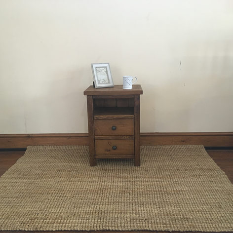Plank Open with 2 Drawer Bedside