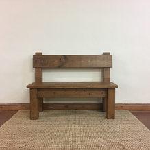 Plank Back Bench