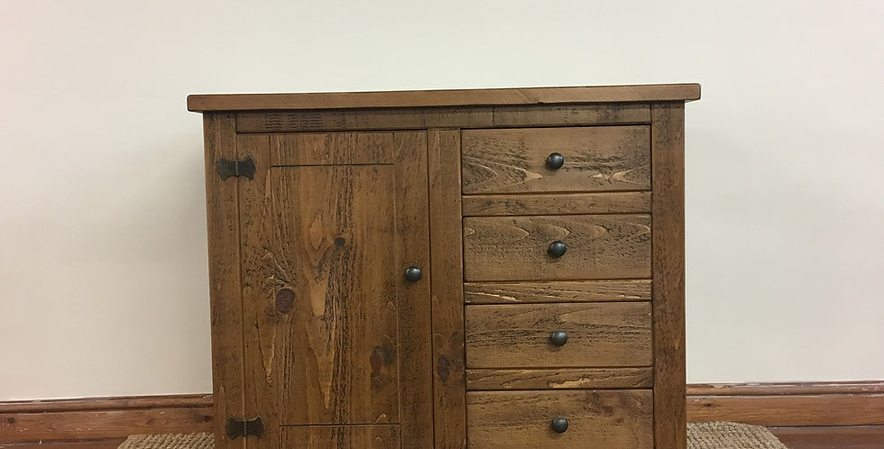 Plank 1 Door 4 Drawer Sideboard
