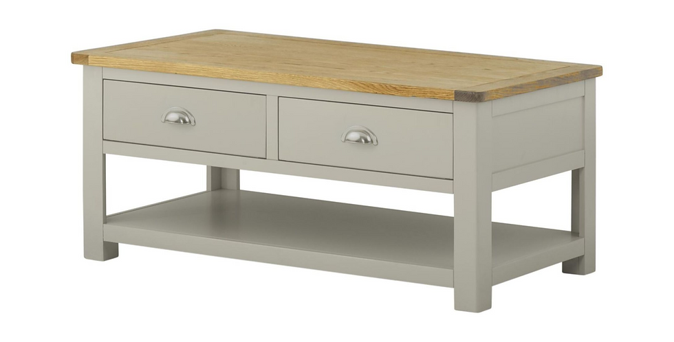 Portland Coffee Table with Drawers