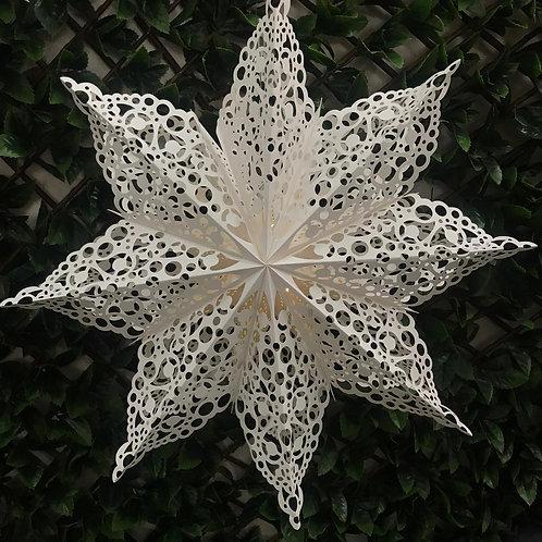 Cream Hanging Paper Star