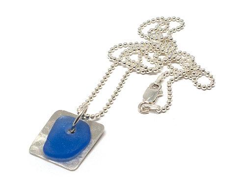 Cobalt Dog Tag Necklace