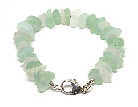 Seafoam and White Bracelet