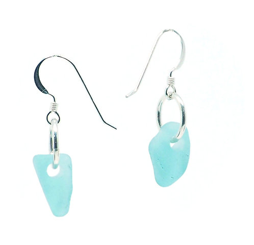 Aqua Sea Foam Earrings