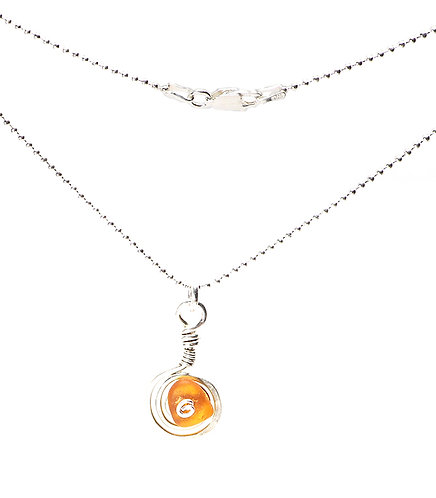 Amber Sterling Swirl Necklace