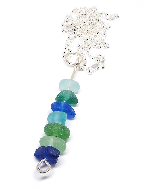 Large Multi Color Stacked Necklace