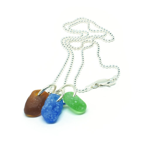 Brown Cobalt and Green Pendant Necklace