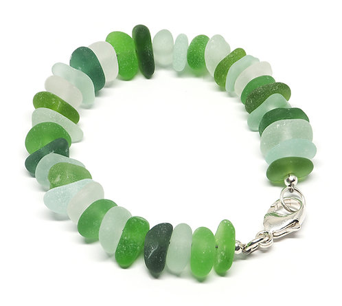 Green, Sea Foam and Khaki Mix Bracelet